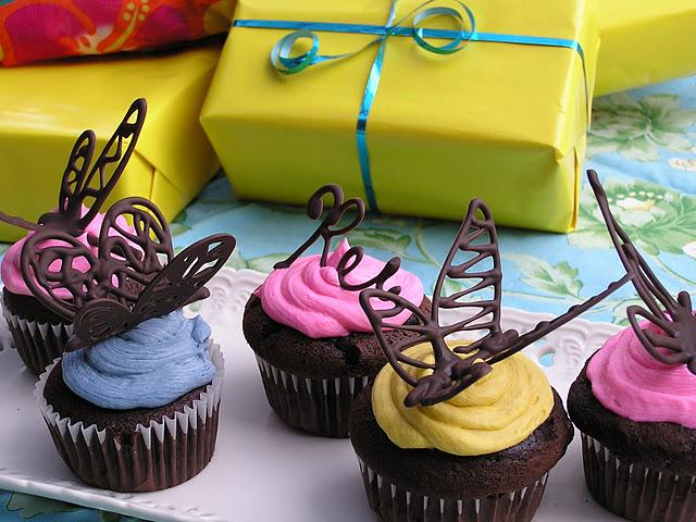 бабочки для торта