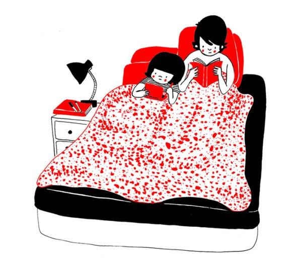 ...читать в одной кровати