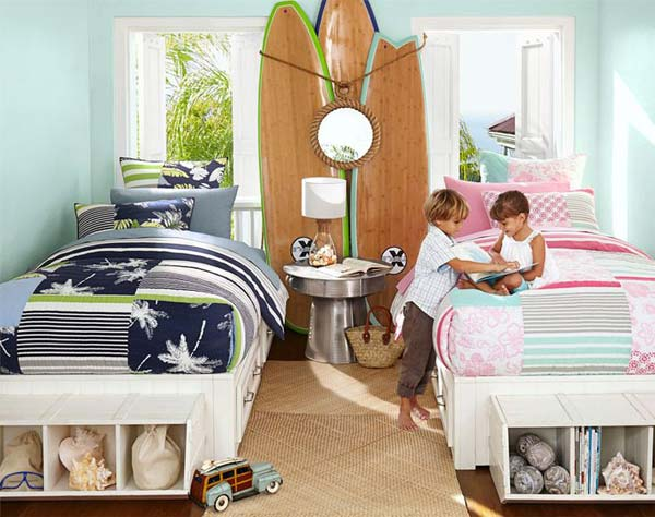 Можно сделать комнату в гавайском стиле