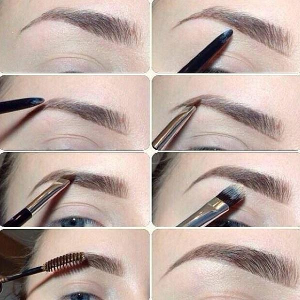 В макияже важно подчеркнуть брови, создав идеальную форму