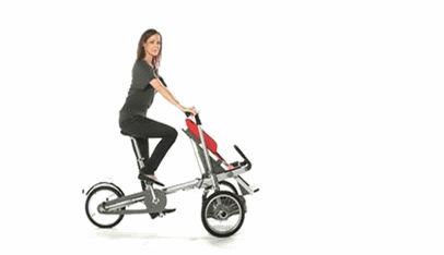 Велосипед-трансформер, который легко и быстро превращается в коляску