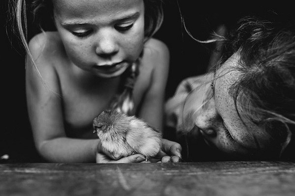 дети и фотограф
