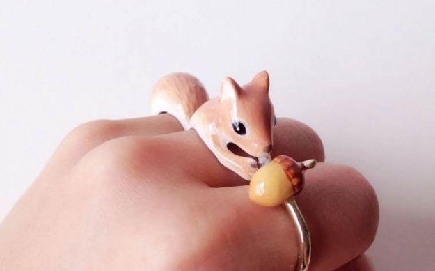кольцо белочка
