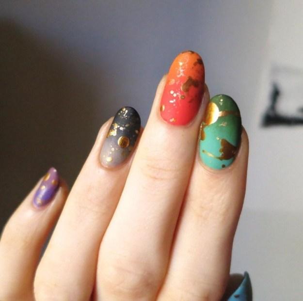 опаловые ногти