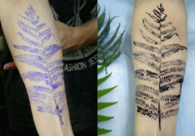 растения в виде тату