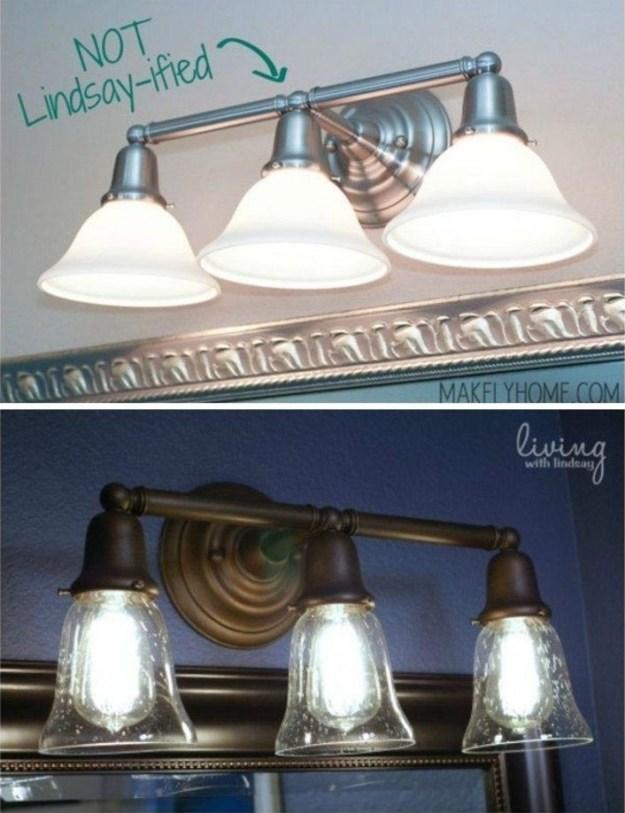 Попробуйте просто перекрасить старые светильники в более интересные цвета
