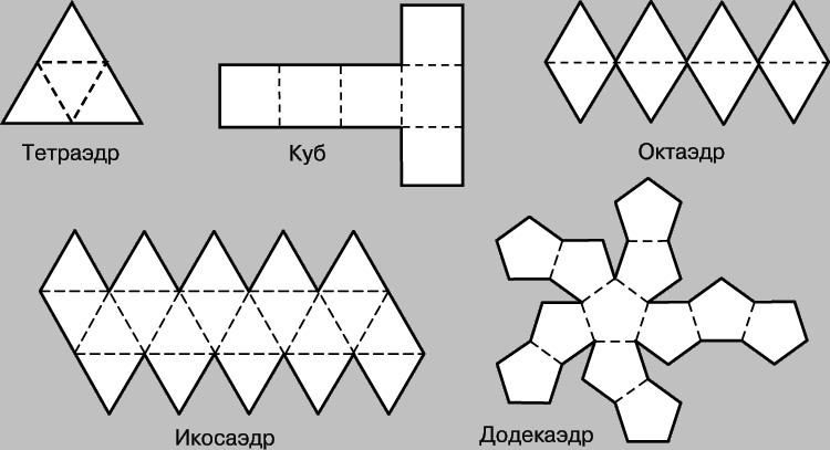 Объемные фигуры своими руками схемы шаблоны 927