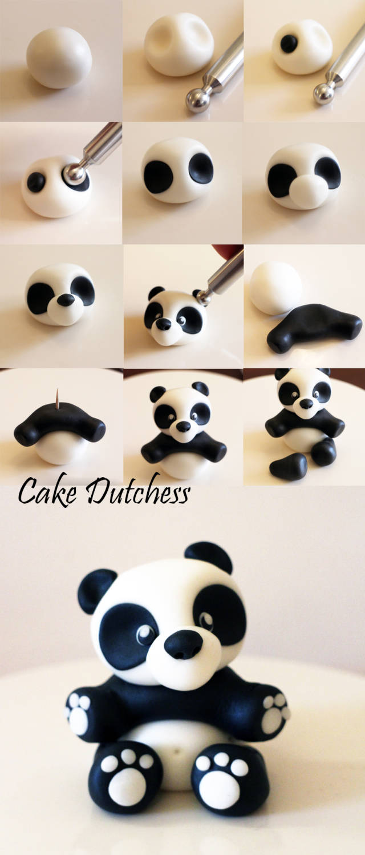 уроки лепки панда