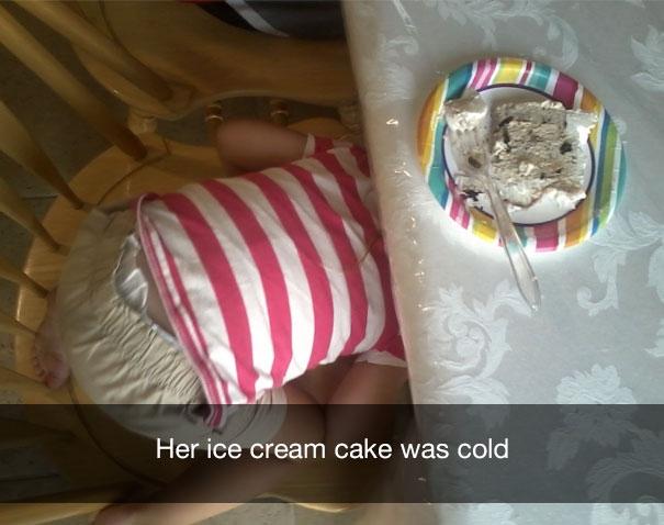 Ее торт-мороженое оказался холодным