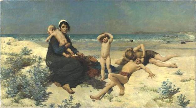 картины мам и детей