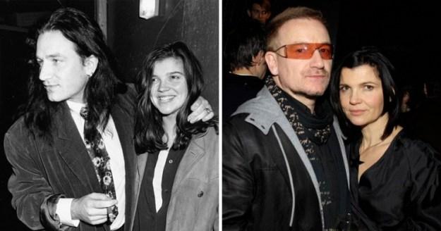 Боно и Али Хьюсон, 34 года вместе