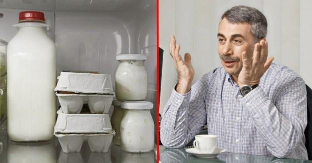 как хранить молоко и яйца