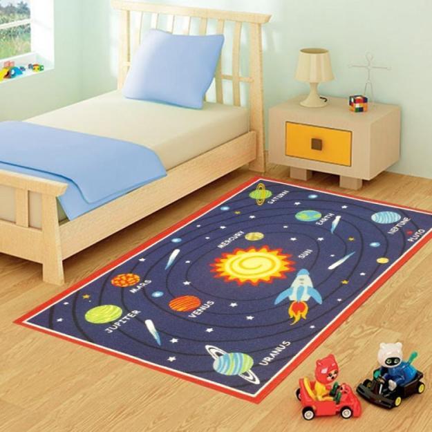 коврик с раположением и названием планет