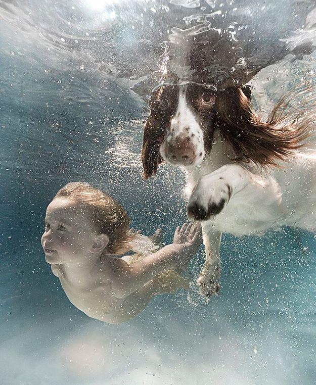 малыши в воде