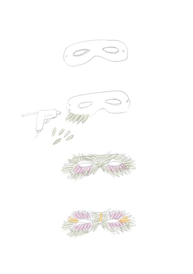 маская из цветов и листьев