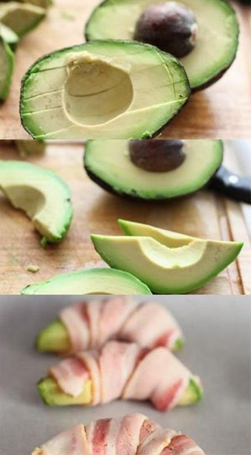Авокадо в беконе