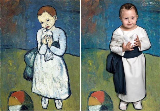 Девочка с голубкой, Пабло Пикассо