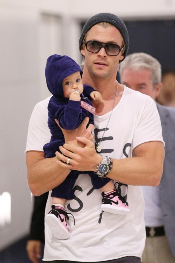 Крис Хемсворт с дочерью Индией Роуз