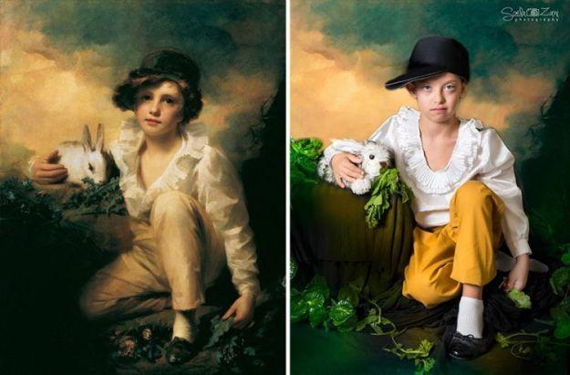 Мальчик с кроликом, Генри Реберн