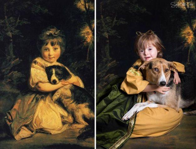 Портрет мисс Боулз с собакой, Джошуа Рейнолдс