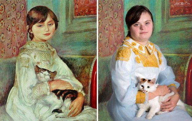 Жюли Мане с кошкой, Пьер-Огюст Ренуар