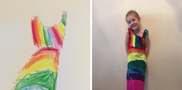 дети рисуют одежду
