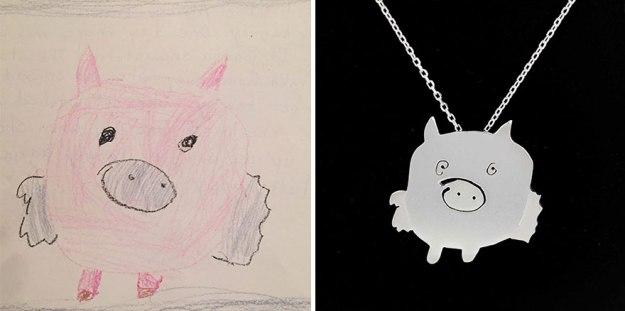 украшения из детских рисунков