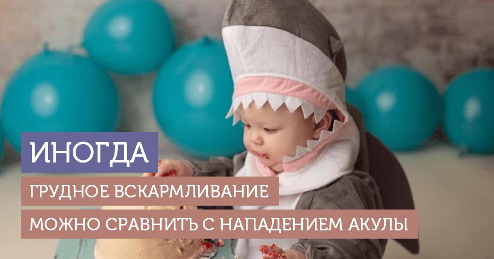 """""""Акула, не щадящая мою грудь"""": кормящая мама устроила дочери смешную фотосессию"""