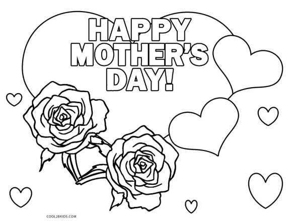 Mothers Day Coloring Pages Download