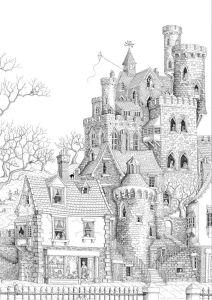 Раскраски антистресс замок