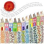 Раскраски для взрослых город и дома