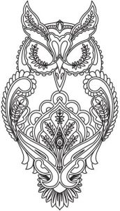 Антистресс раскраски для взрослых совы