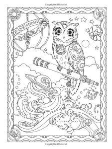 Раскраска для взрослых мудрая сова