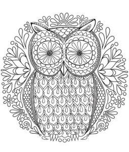 Антистресс раскраски совы