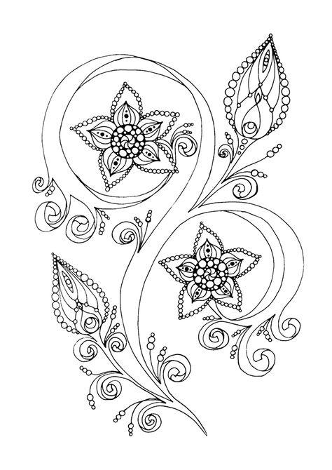 Раскраски антистресс цветы в хорошем качестве ...