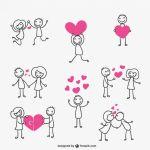 любовь в стиле дудлинг