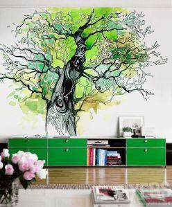 Роспись на стенах в интерьере фото
