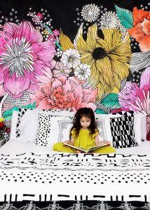 роспись стен в интерьере детской комнаты фото
