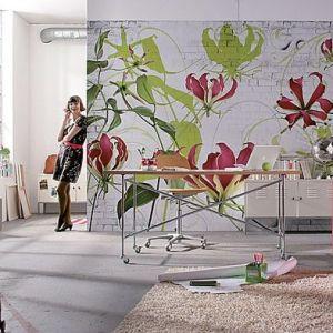 Роспись стен цветами в интерьере