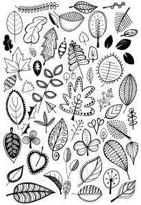 картинки листьев для срисовки