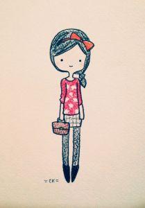 девушка для срисовки для начинающих