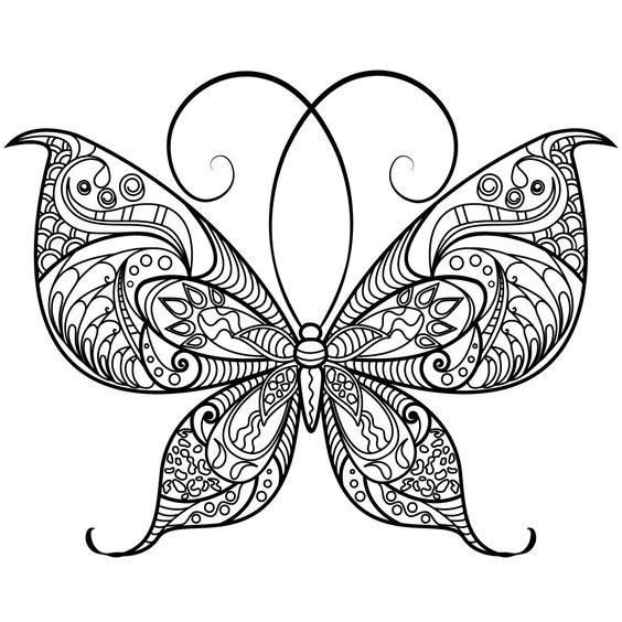 раскраски антистресс бабочки распечатать в хорошем