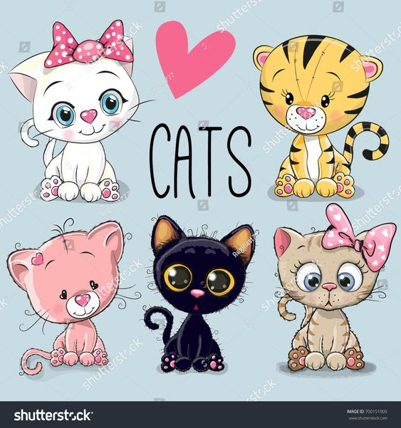 няшные картинки котят для срисовки