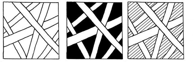 Запутанные линии. Вы можете раскрасить фон или использовать узкие линии