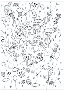 Doodle Art / Doodling - Coloring Pages for Adults11