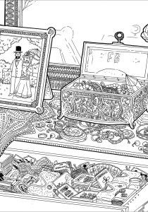 Fashion, clothing and jewelry - Coloring Pages for Adults0