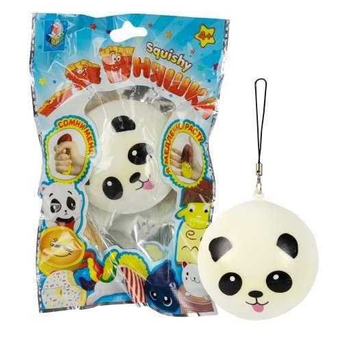 Игрушка-антистресс, 1TOY/Вантой, мммняшка squishy (сквиши), шар-панда w20/6.5/6.5/4