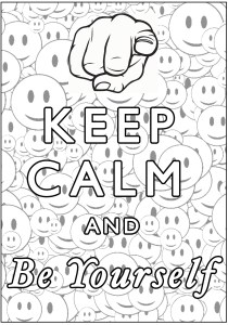 Keep calm and … - Coloring Pages for Adults6