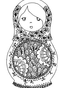 Russian dolls - Coloring Pages for Adults11