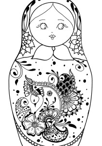 Russian dolls - Coloring Pages for Adults13